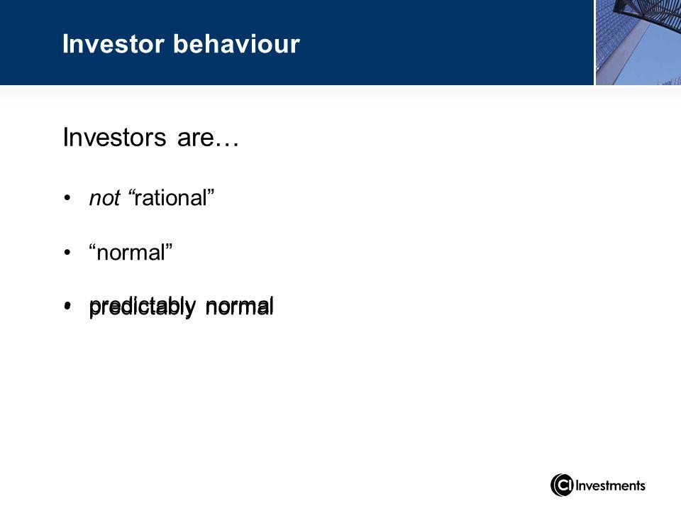 not rational normal predictably normal predictably normal Investors are… Investor behaviour