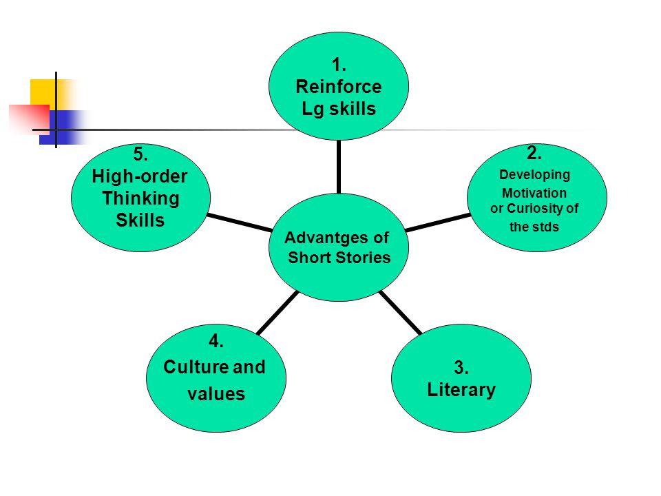 Advantges of Short Stories 1. Reinforce Lg skills 3.