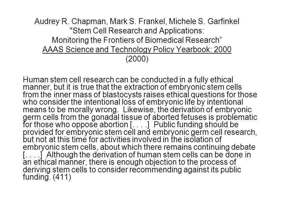 Audrey R. Chapman, Mark S. Frankel, Michele S.