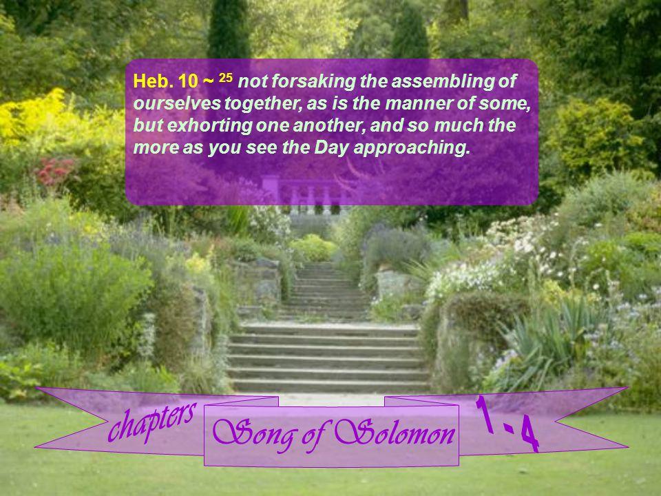 Song of Solomon Heb.