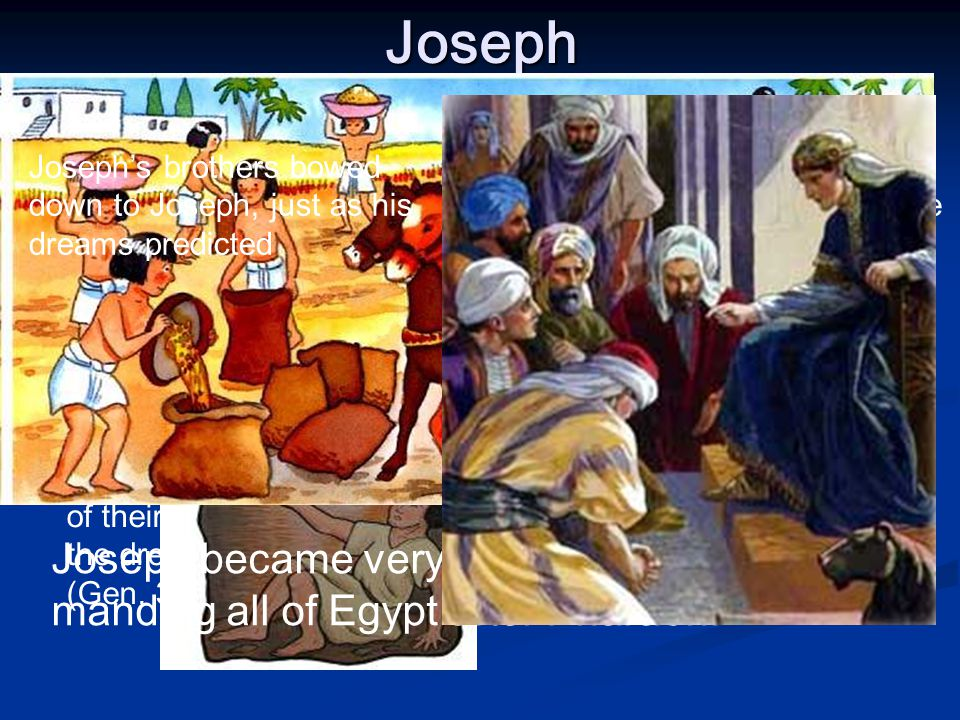 Joseph Jacob's older brothers hated him because he was the most beloved of their father, and for the dreams he had (Gen.