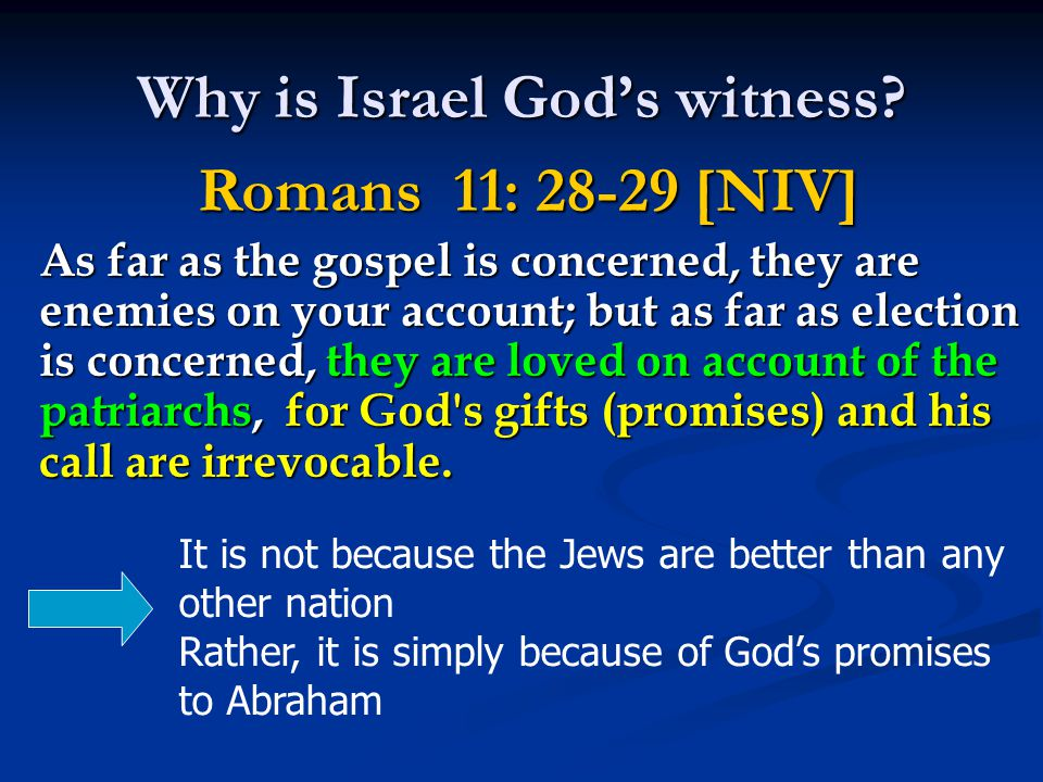 Why is Israel God's witness.