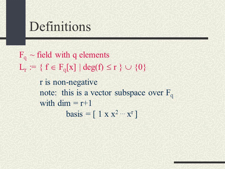 Reed-Solomon Codes A Case Study John Hanson