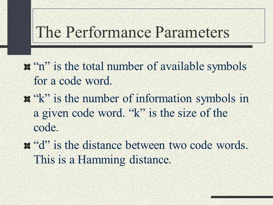 Code Parameters