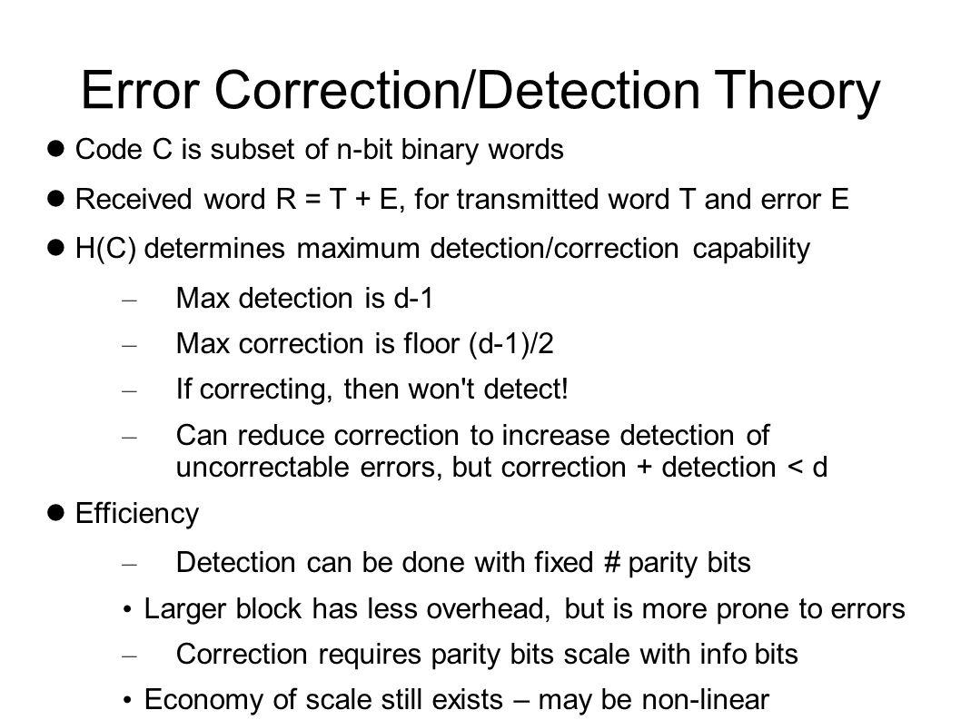 Forward Error Correction Block vs.