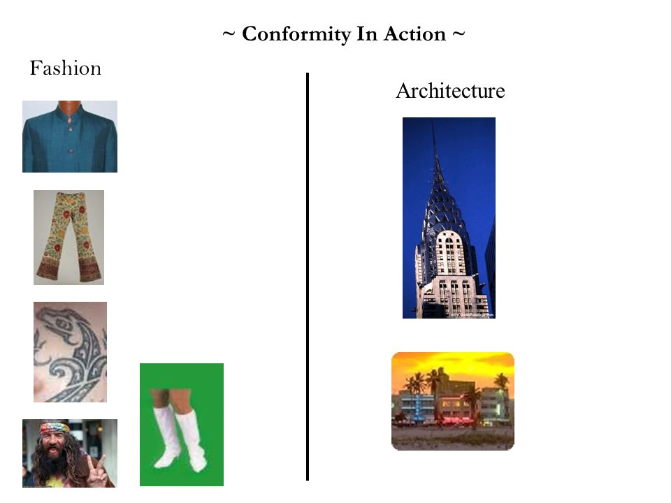 ~ Conformity In Action ~ Fashion Architecture