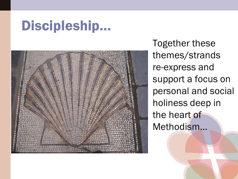 Together these themes/strands re-express and support a focus on personal and social holiness deep in the heart of Methodism...