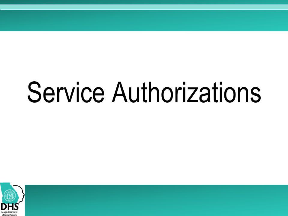 Service Authorizations