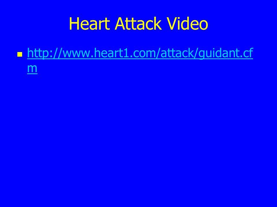 Heart Attack Video http://www.heart1.com/attack/guidant.cf m http://www.heart1.com/attack/guidant.cf m