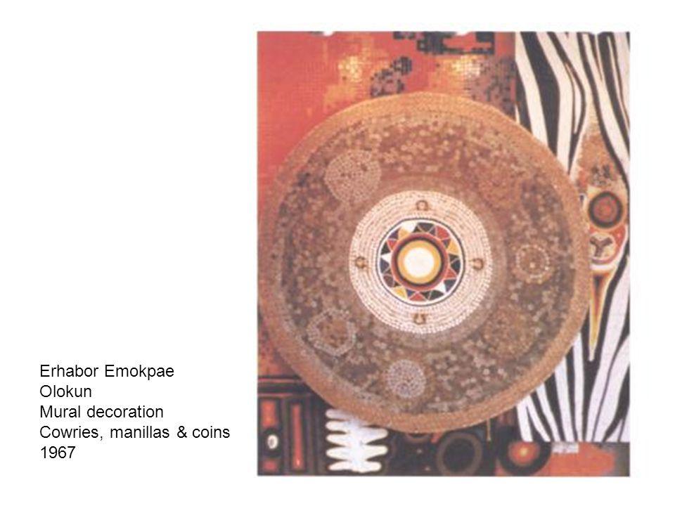Erhabor Emokpae Olokun Mural decoration Cowries, manillas & coins 1967