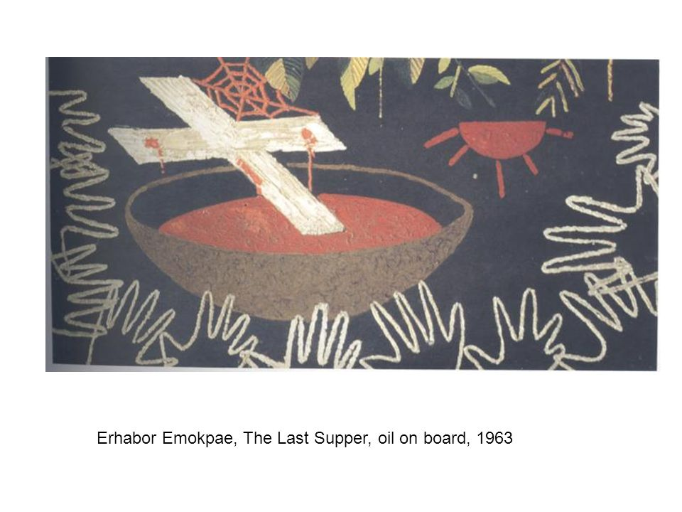 Erhabor Emokpae, The Last Supper, oil on board, 1963