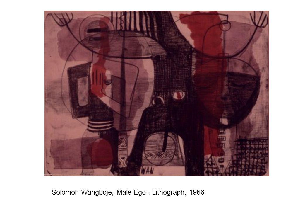 Solomon Wangboje, Male Ego, Lithograph, 1966