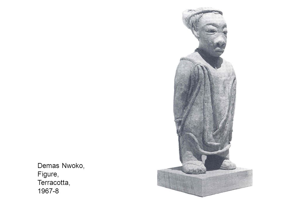 Demas Nwoko, Figure, Terracotta, 1967-8