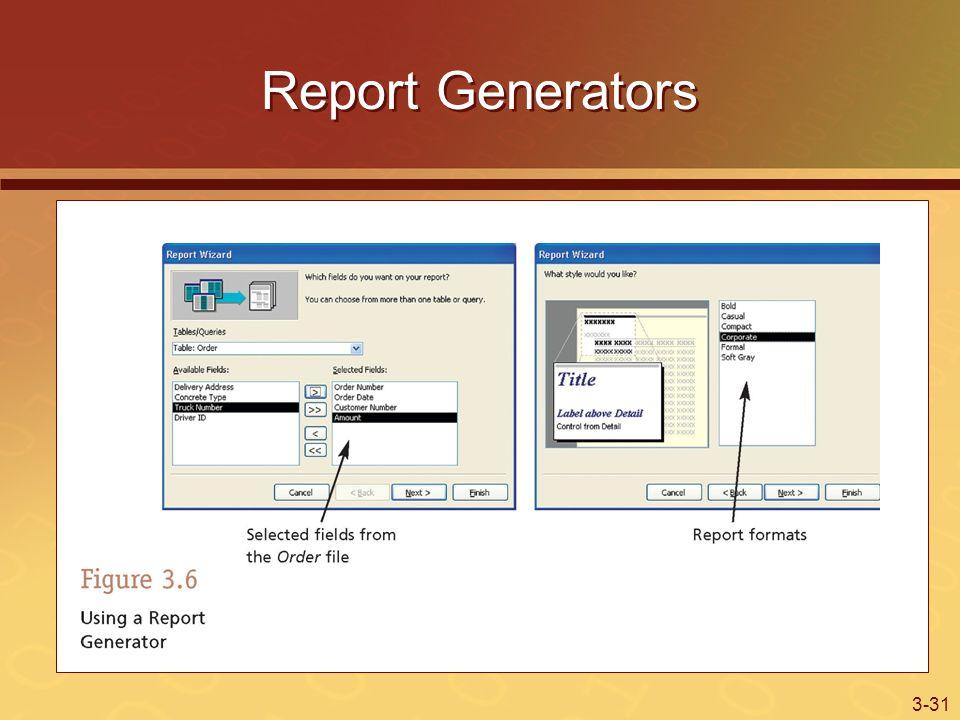 3-31 Report Generators