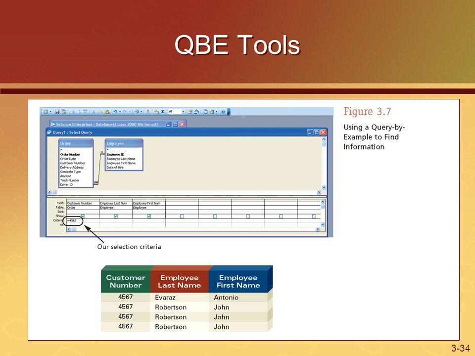 3-34 QBE Tools