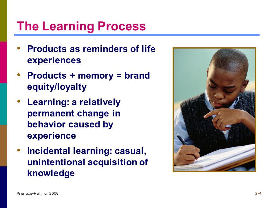 Prentice-Hall, cr 20093-15 Observational Learning (cont.) Modeling: imitating others' behavior Figure 3.3