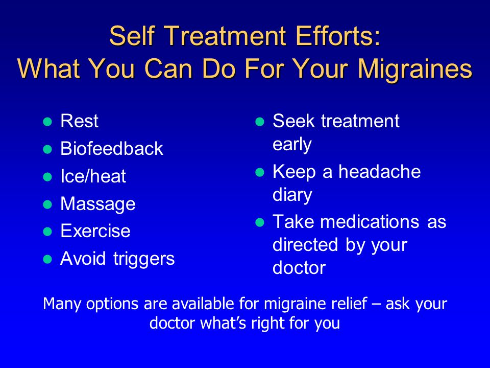 Some Medications May Cause Migraine to Become Chronic May cause chronic headaches: Opiates Combination analgesics Caffeine Barbiturate-containing medications Ergotamine tartrate, isometheptene Triptans Others Not clearly associated with chronic headaches: Acetaminophen Aspirin Dihydroergotamine Others