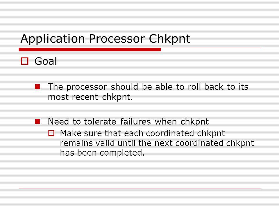 Implementation  BASE: No chkpnt  DISK-FORK: Disk-based chkpnt w/ fork()  SIMP: Simple diskless  INC: Incremental diskless  FORK: Forked diskless  INC-FORK: Incremental, forked diskless  C-SIMP: w/ diff-based compression  C-INC  C-FORK  C-INC-FORK