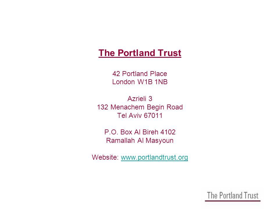 The Portland Trust 42 Portland Place London W1B 1NB Azrieli 3 132 Menachem Begin Road Tel Aviv 67011 P.O.