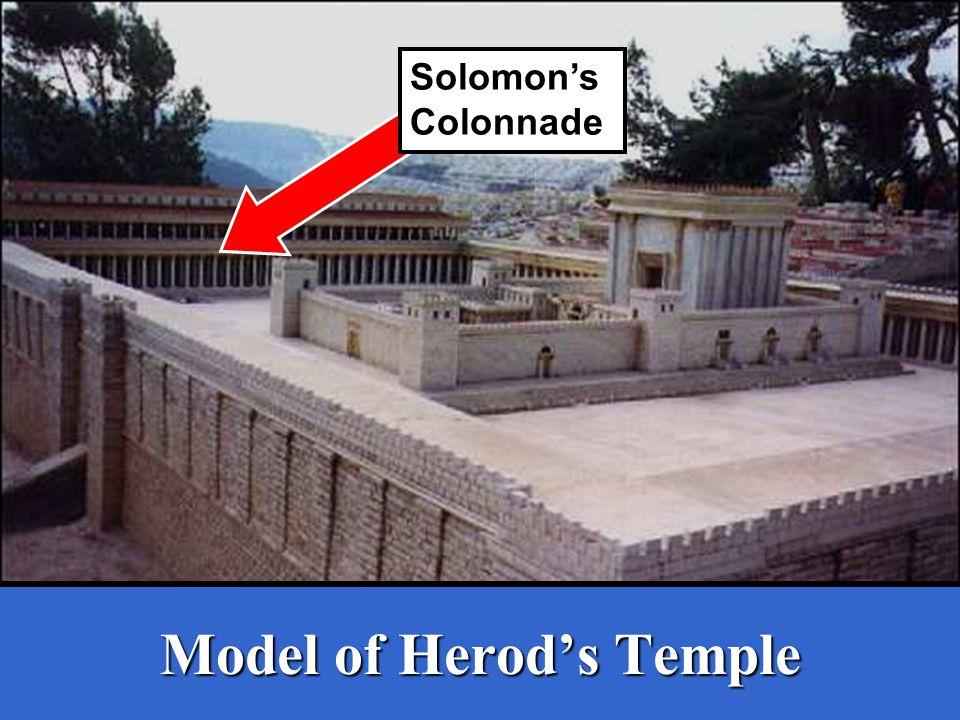 Model of Herod's Temple Solomon's Colonnade