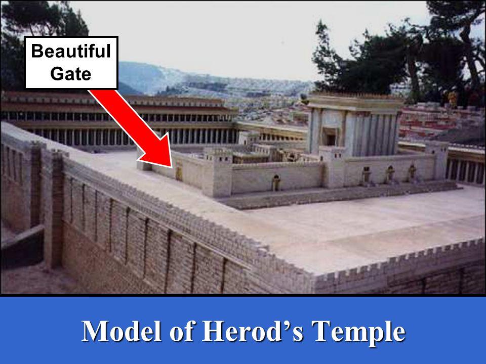 Model of Herod's Temple Beautiful Gate