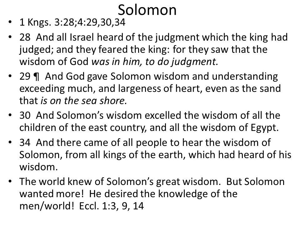 Solomon 1 Kngs.