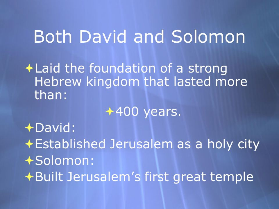 Building Jerusalem's first great temple was:  A huge undertaking  Cost the Hebrews greatly as they:  Were taxed heavily so that gold, copper, and c