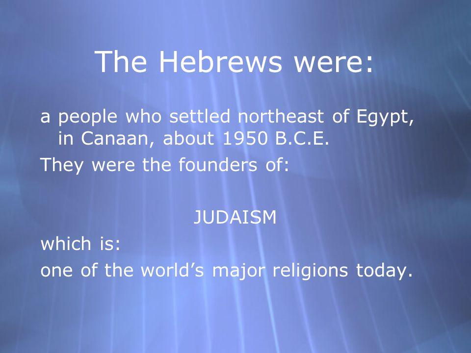 The Ancient Hebrews The Origins of Judaism