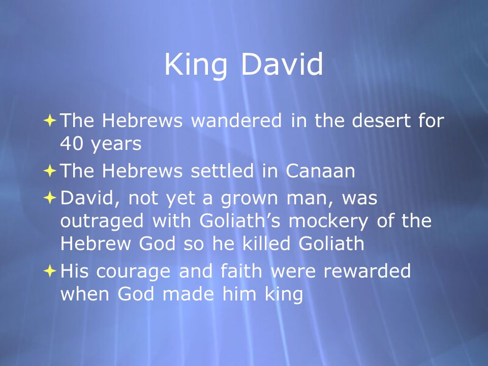 Moses Moses  The greatest leader of the Hebrews  The Torah tells how he led his people out of slavery in Egypt, known as the  Exodus  Which means  departure  He gave Judaism its fundamental laws which are the  Ten Commandments which are:  10 important laws engraved on two stone tablets given to Moses by God  The greatest leader of the Hebrews  The Torah tells how he led his people out of slavery in Egypt, known as the  Exodus  Which means  departure  He gave Judaism its fundamental laws which are the  Ten Commandments which are:  10 important laws engraved on two stone tablets given to Moses by God