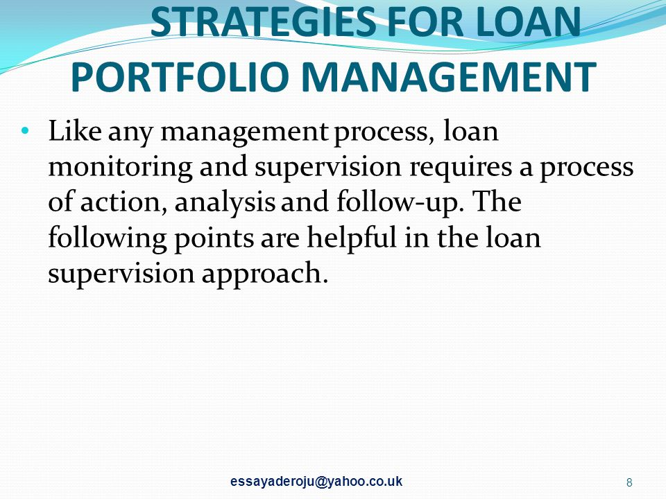 C)LOANS OR OVERDRAFTS FOR SPECIFIC PURPOSES I.