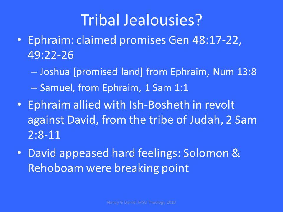 Tribal Jealousies.