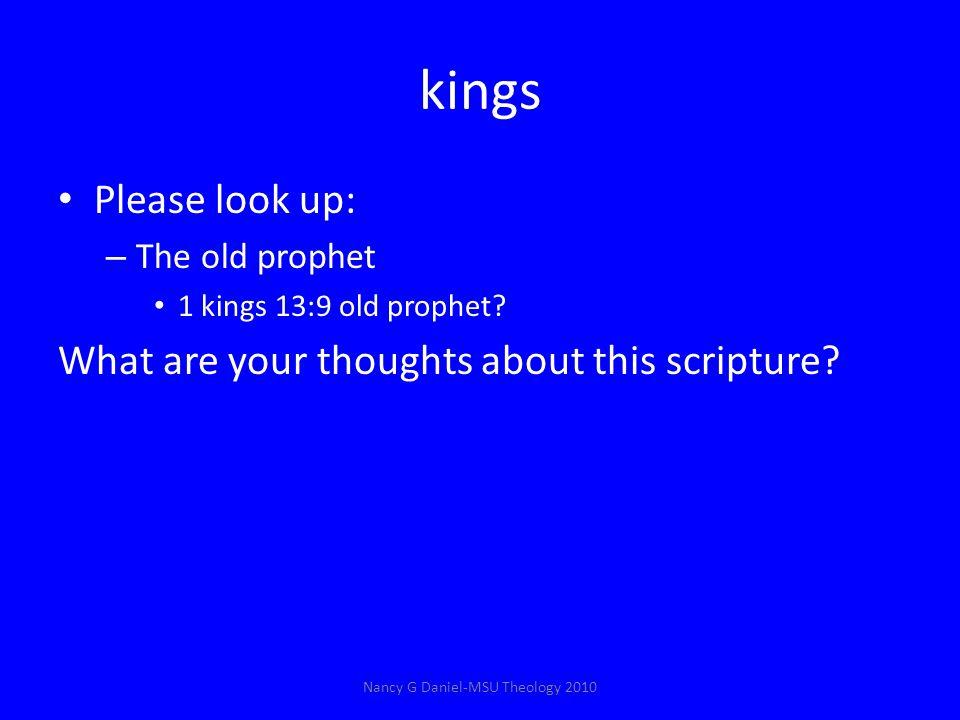 kings Please look up: – The old prophet 1 kings 13:9 old prophet.