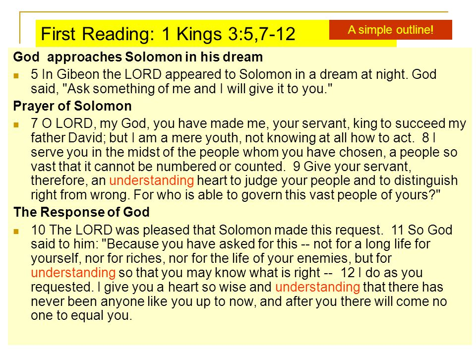 God approaches Solomon in his dream 5 In Gibeon the LORD appeared to Solomon in a dream at night.