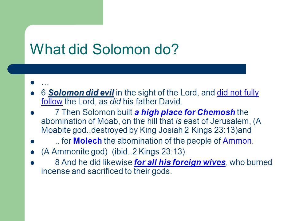 What did Solomon do.