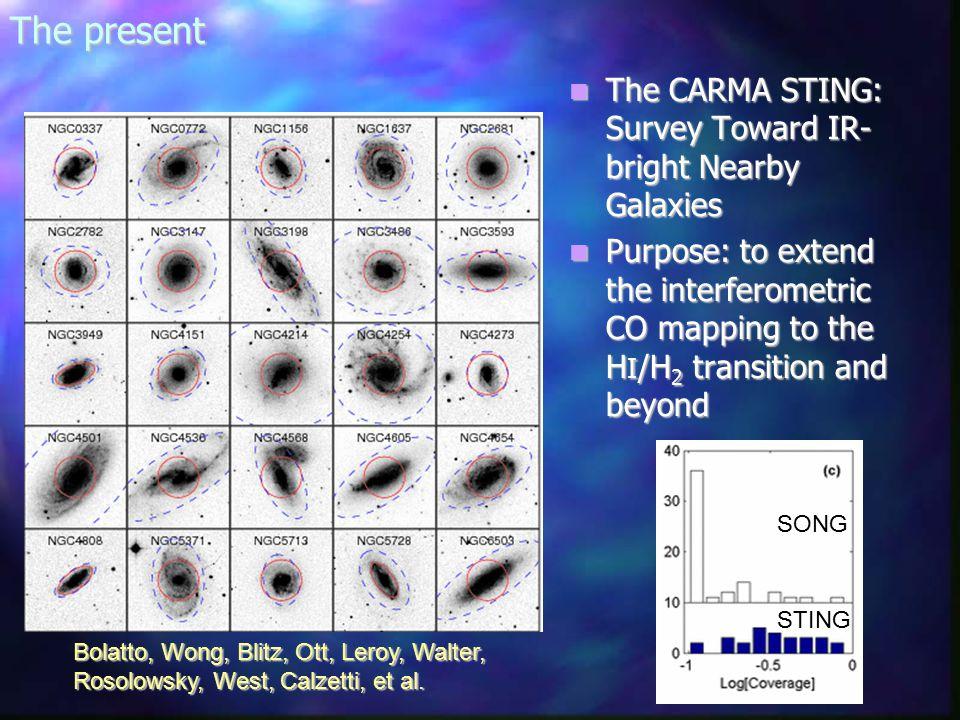 The present The CARMA STING: Survey Toward IR- bright Nearby Galaxies The CARMA STING: Survey Toward IR- bright Nearby Galaxies Purpose: to extend the