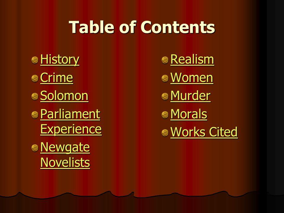 The Newgate Novel and the Moral Argument Group #1 Erin Arnett Amy Foust Kelly Klingler Emily Stice