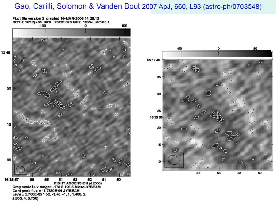Gao, Carilli, Solomon & Vanden Bout 2007 ApJ, 660, L93 (astro-ph/0703548)