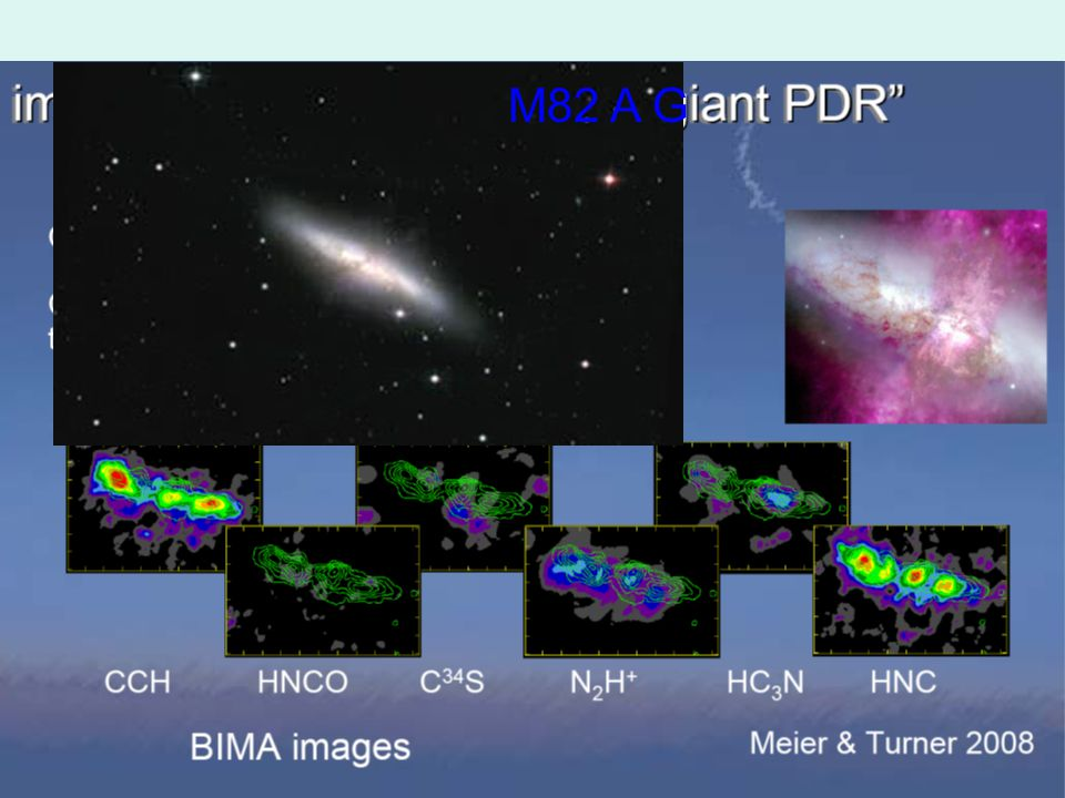 Many additional molecular lines are detected by single-dish mm telescopes M82 A G