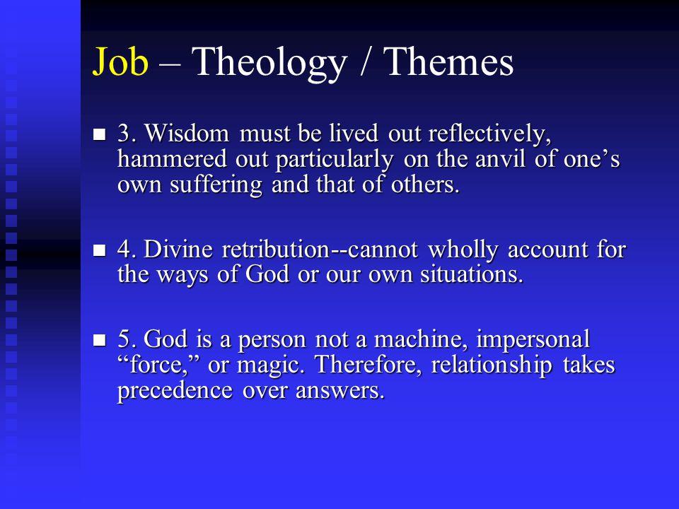 Job – Theology / Themes n 3.