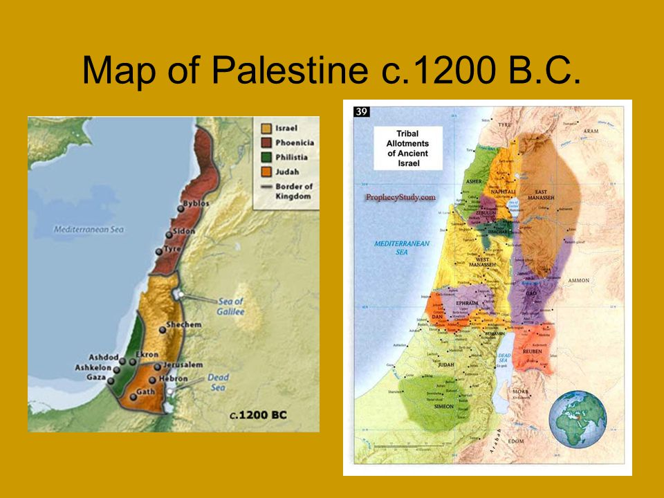 Map of Palestine c.1200 B.C.