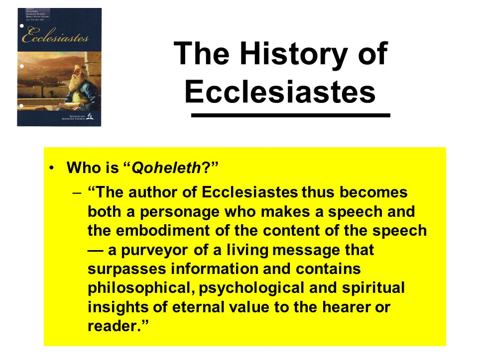 Ecclesiastes 1 – The Cycles of Nature What the Bible Says The other side of this coin, or course, is that extraordinary things we call miracles do happen in nature.