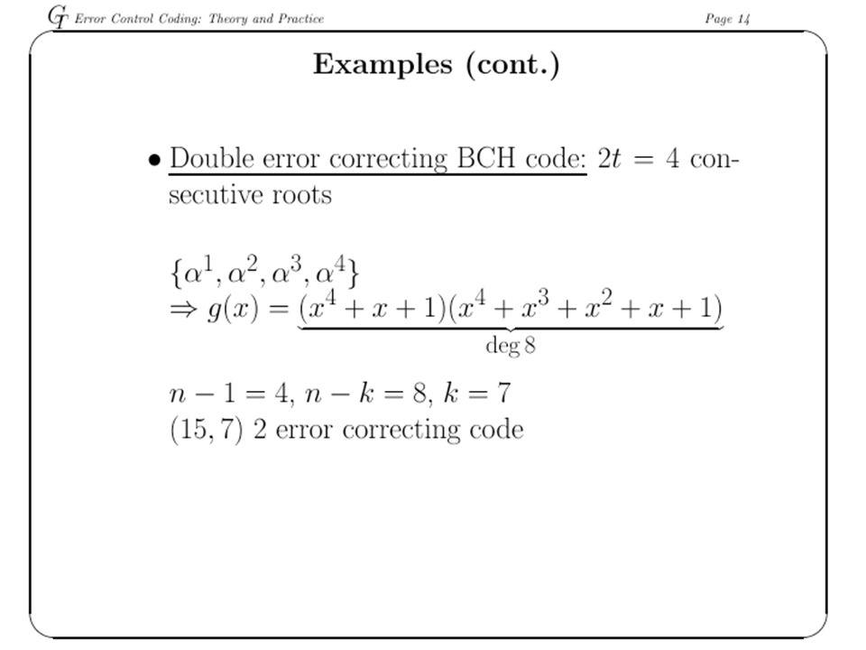 RS Encoder 172 bytes 192 rows 10 bytes 16 bytes How long of a burst of errors is correctible?