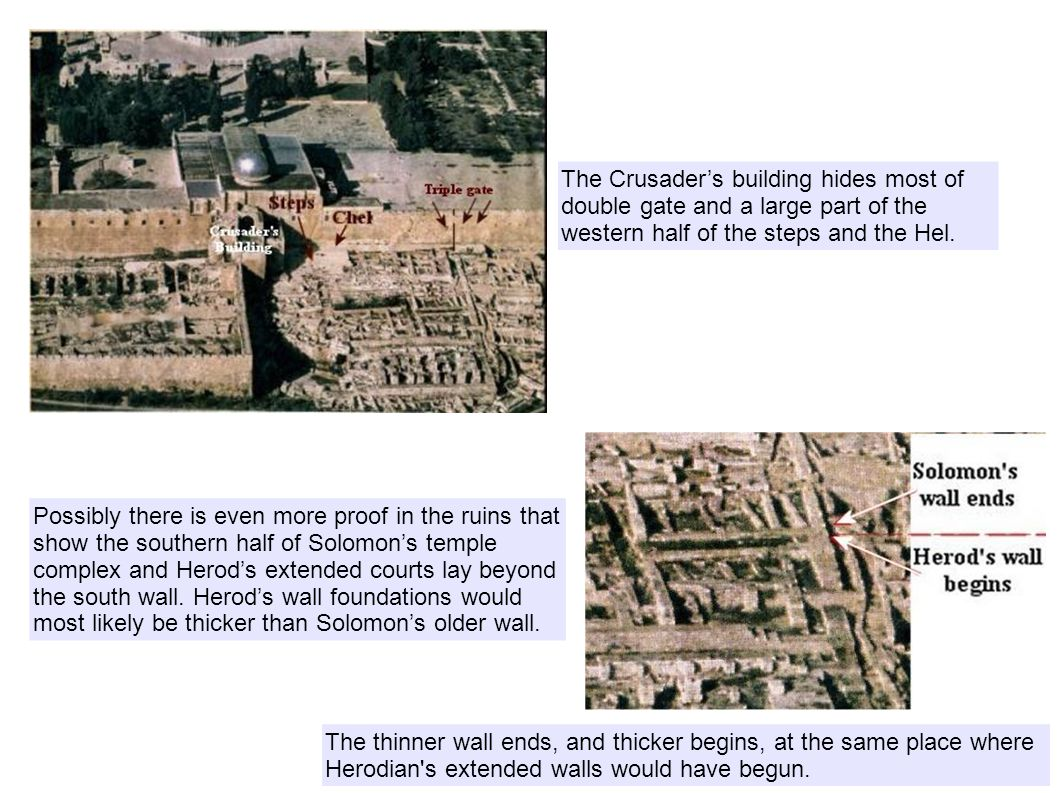 The Crusader's building hides most of double gate and a large part of the western half of the steps and the Hel.
