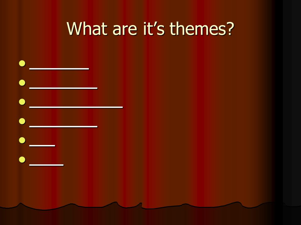 What are it's themes.