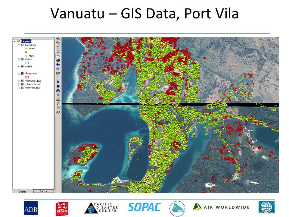 Vanuatu – GIS Data, Port Vila