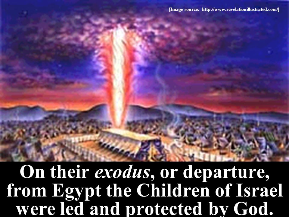 God told Moses to lead the Hebrews out of their Egyptian captivity.