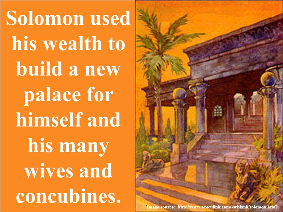 Solomon also founded new cities as both centers of commerce and for the defense of his realm.