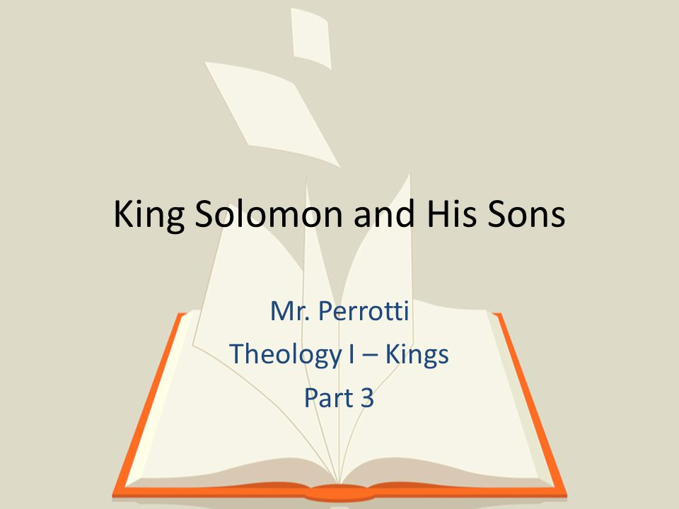 Youngest and Beloved Son of David King Solomon King of Israel for 40 years King Solomon Solomon was the son of King David and Bathsheba.