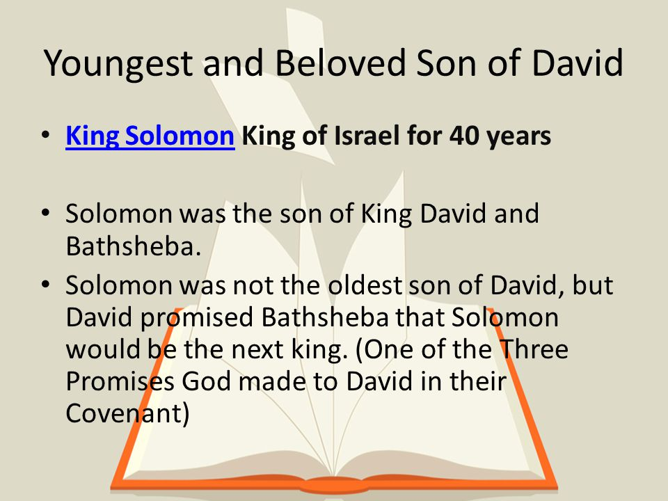 Proclaimed in the Book of Kings And the Lord was angry with Solomon, because his heart had turned away from the Lord, the God of Israel, who had appeared to him twice and had commanded him concerning this thing, that he should not go after other gods.