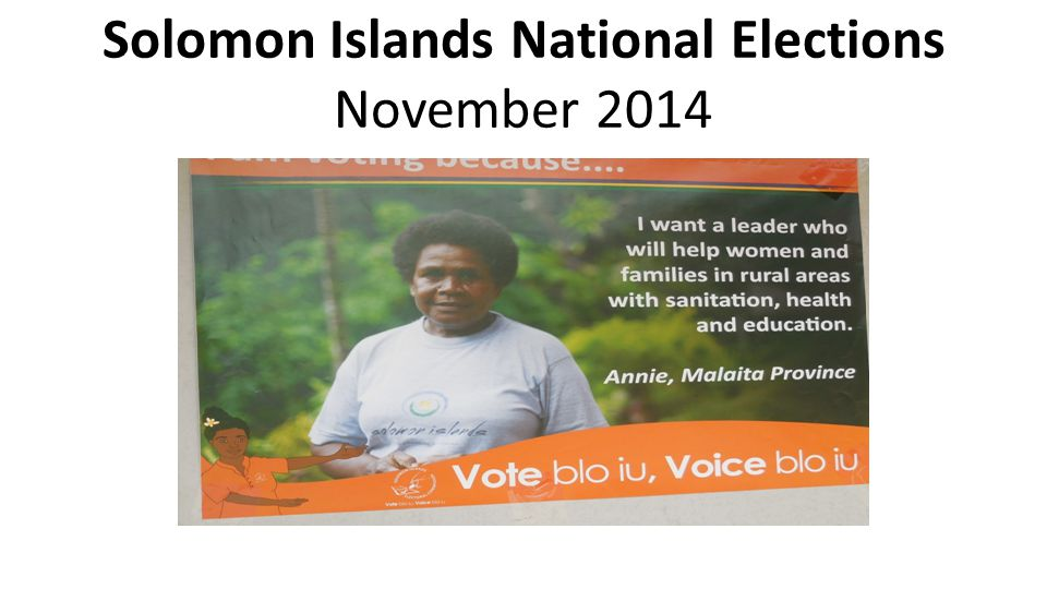 Solomon Islands National Elections November 2014